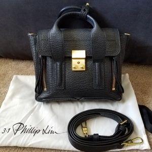 3.1 Phillip Lim mini pashli leather satchels black